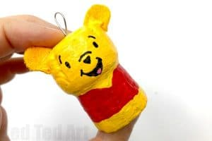 Pooh bear cork craft