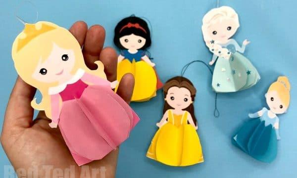 Paper Aurora Doll Ornament