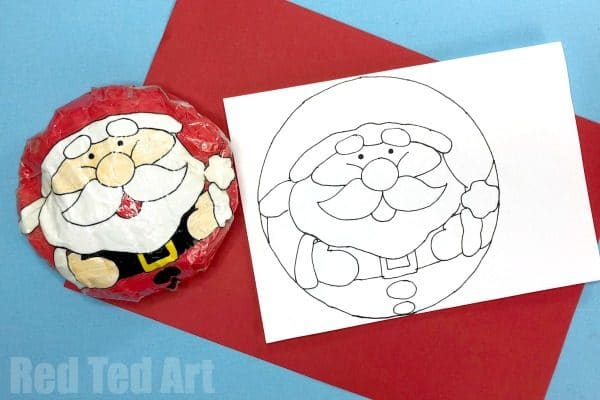 How to make a Squishy from Paper - DIY Christmas Squishies. Includes free Santa Squishy Printable! #Christmas #Squishy #printable #paper #santa