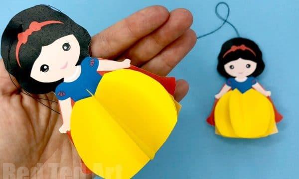 Paper Snow White Ornament Printable