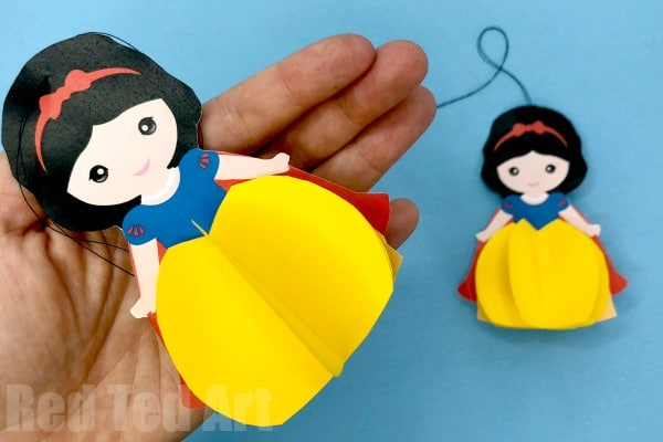 photograph about Snow White Printable named Paper Snow White Ornament Printable - Purple Ted Artwork