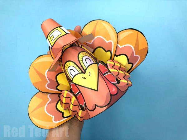 Printable Turkey Cones - 3d Turkey Printables for Thanksgiving. They make great Turkey Party Hats, Turkey Place Cards or simple Turkey Paper toys! #thanksgiving #turkey #printable coloring pages!