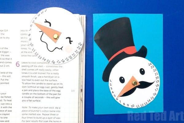 Christmas Countdown Printable - free Countdown Snowman Printable Craft for kids #christmas #countdown #printable