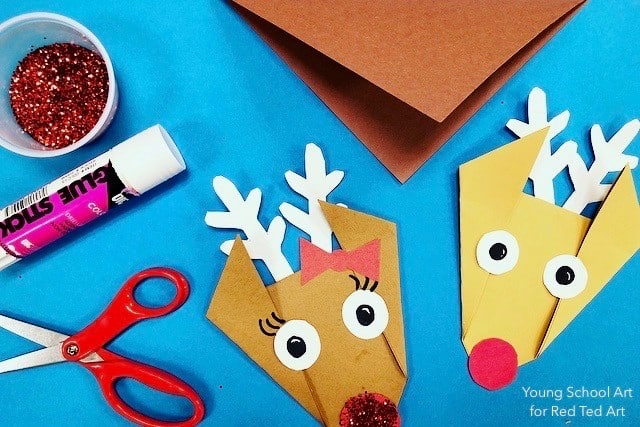 Easy Origami Reindeer For Preschool Red Ted Art