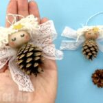Pine Cone Angel Ornament DIY