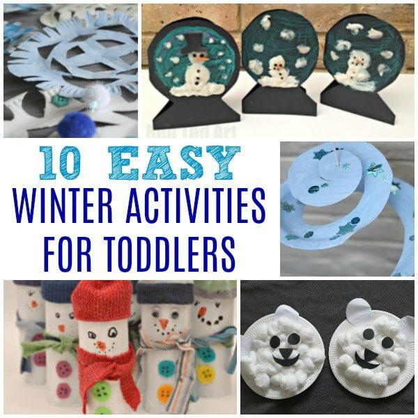 Easy Winter Activities for Preschoolers - collage of ideas