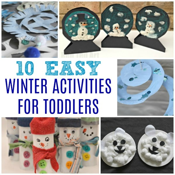 Easy Winter Activities for Toddlers. Winter Crafts and Winter Activity ideas for 2 and 3yrs olds #wineter #activities #ece #preschool