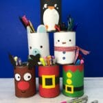 DIY Christmas Desk Tidy Decor