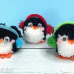 Pom Pom Penguin DIY Ornaments