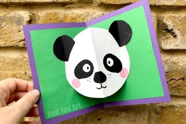 panda pop up card