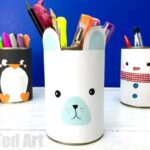 Easy Polar Bear Desk Tidy Craft