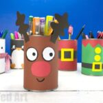 DIY Reindeer Desk Tidy and Pencil Pot