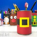 DIY Santa Desk Tidy and Pencil Pot