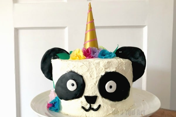 Swell How To Make A Pandacorn Cake For Beginners Red Ted Art Make Funny Birthday Cards Online Aboleapandamsfinfo