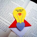 Valentine's Lightbulb Corner Bookmark Design