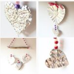 Foil Art Heart Mobiles Valentine's Day Decorations.