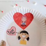 Paper Plate Heart Wheel Valentine's Day Craft