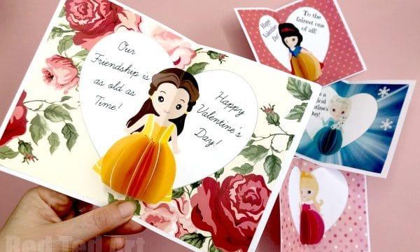 Princess Valentines Day Card printables