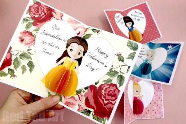 Princess Valentines Day Card printables