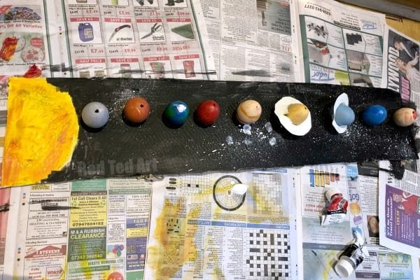Try this to win the School Egg Decorating Competition. Last year's winning Egg Decorating Competition Entry: Space EGGsplorers, our Space Puns and Solar System Eggs secured a 1st prize victory! Tying in nicely with the curriculum too! #eggdecorating