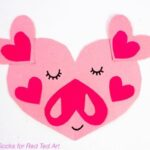 Easy Paper Heart Pigs