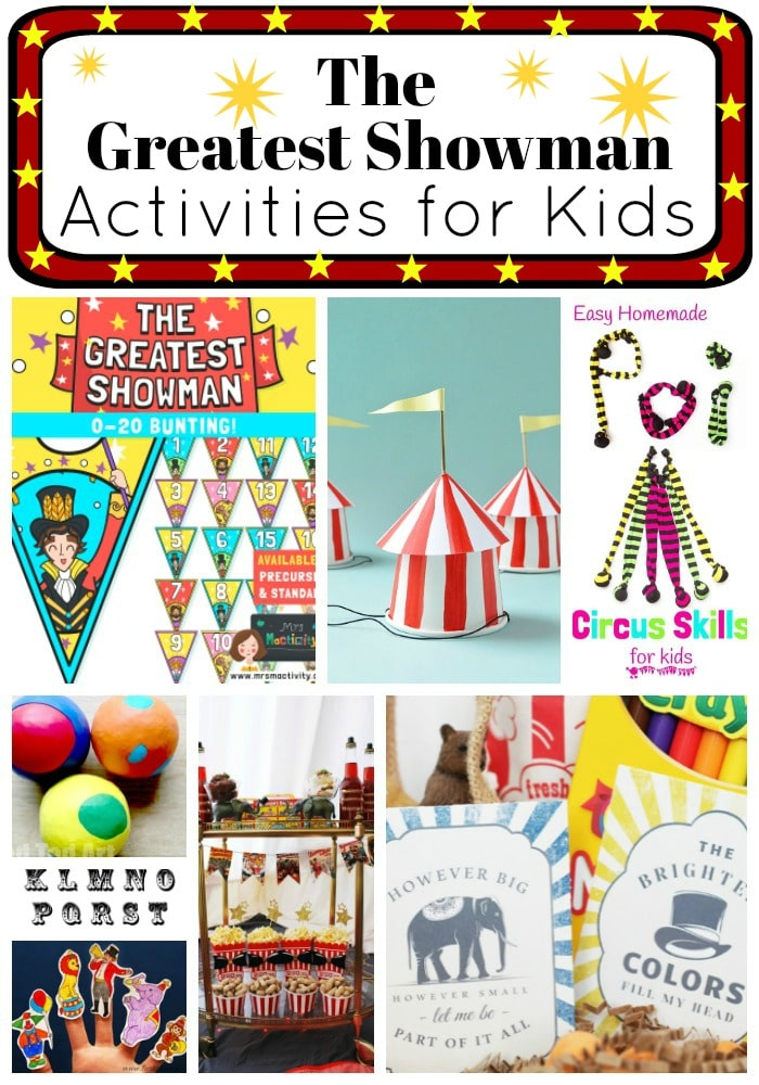 The Greatest Showman Activities for Kids - a mix of The Greatest Showman Activities from Greatest Showman Printables, to Party Games and Crafts! For both the Classroom and at Home #TheGreatestShowman #GreatestShowman #Circus #PartyIdeas #printables #activities