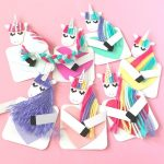 Easy Unicorn Gift Idea for Valentine's Day. These Cookie Cutter Clay Unicorns are surprisingly easy to make. Pretty Clay Unicorn Ornaments or Magnets. We love Easy DIY Unicorn Crafts for Kids! #Unicorns #ornaments #clay #gift