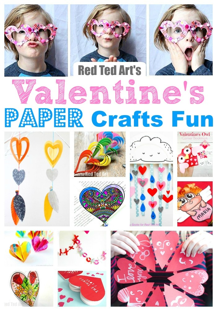 Easy Paper Valentines Day Ideas for Kids of all ages. Simple Paper Crafts for Valentine's Day. Valentine's Day Ideas for the classroom. #valentines #valentinesday #paper #papercrafts #kidscrafts #valentinesideas