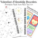 Classroom Valentine's Bracelets For Kids to Make