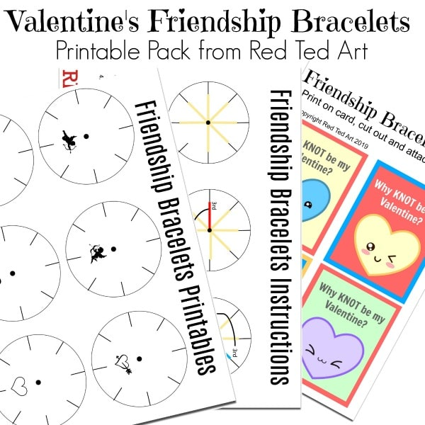 Classroom Valentine S Bracelets For Kids To Make Red Ted Art Make Crafting With Kids Easy Fun