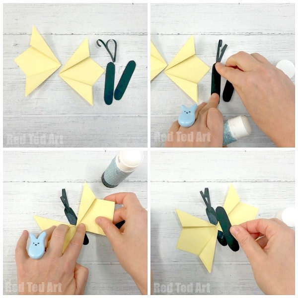 How to make a 3d butterfly out of paper step by step. Easy Folded Paper Butterfly Craft for Kids. Simple and Easy Butterfly for Walls tutorial for kids #butterfly #folded #accordion #paper #butterflywall