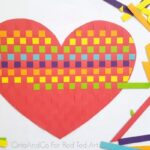 Rainbow Heart Paper Weaving Activity