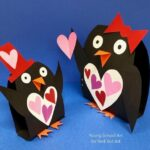 Paper Valentines Penguin Craft