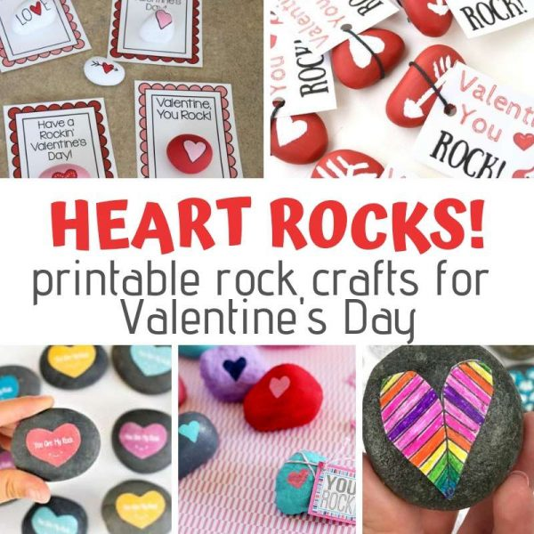 Fabulous hearts on rocks ideas for kids to paint and give. So cute!
