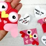 Valentine's Owl Corner Bookmark Gift Idea for Kids