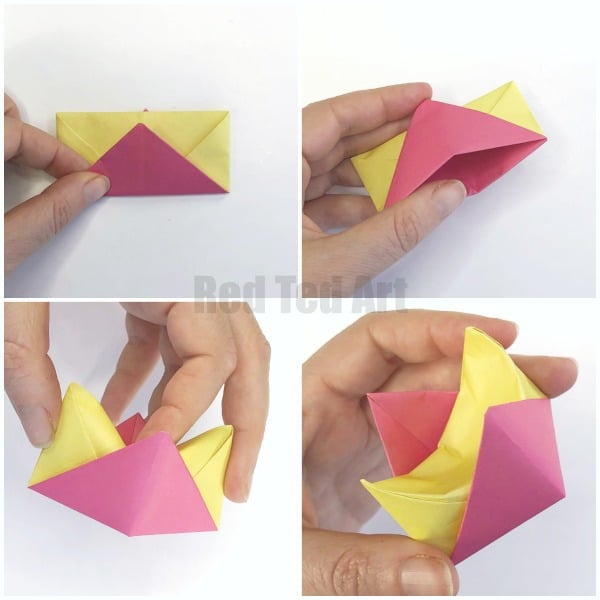 Easy Origami Egg Cups. Learn how to make an Origami Egg Cup with both Step By Step Instructions and video instructions. Great Easter Origami for kids!