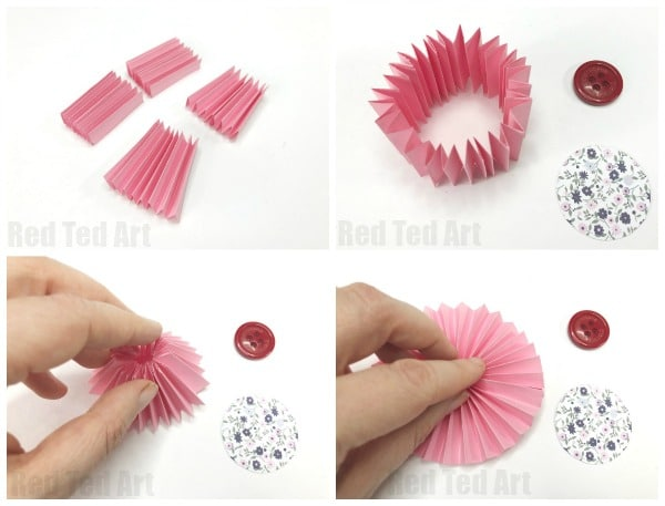 How to make a flower with paper step by