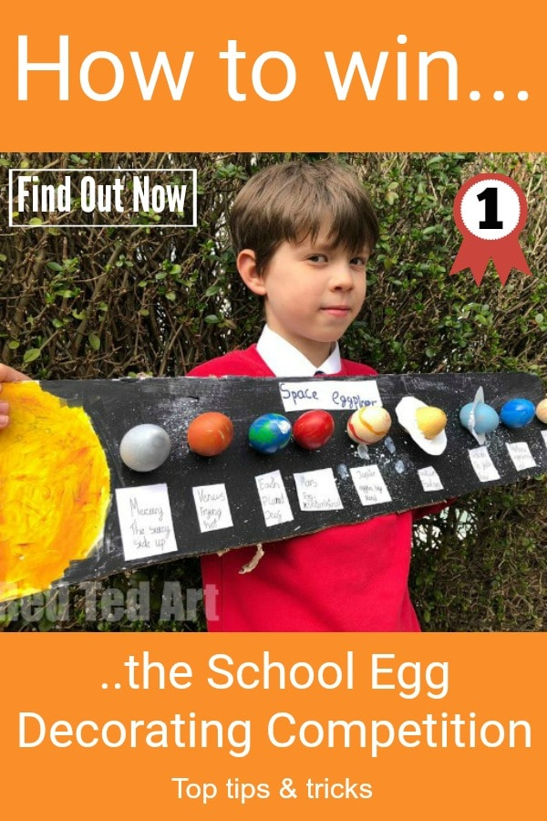 School Egg Decorating Competition looming? Learn how to win with our simple tips and tricks. We have had winning entries for the last 5 years! Or simply check out our Solar System Eggs and how we made them and have a go at these! Remember: have fun and experiment! CLICK TO FIND OUT MORE NOW