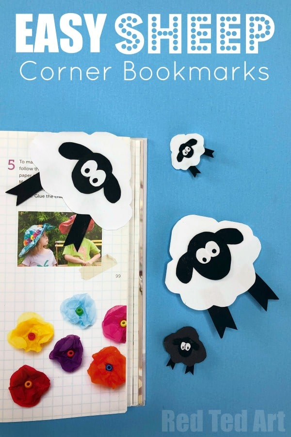 Easy Sheep Corner Bookmark Design for Spring, Easter or simply Animal Lovers. These Corner Bookmarks work as Sheep or Lamb Bookmark designs. Quick & Easy.