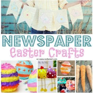 Newspaper Easter recycling ideas