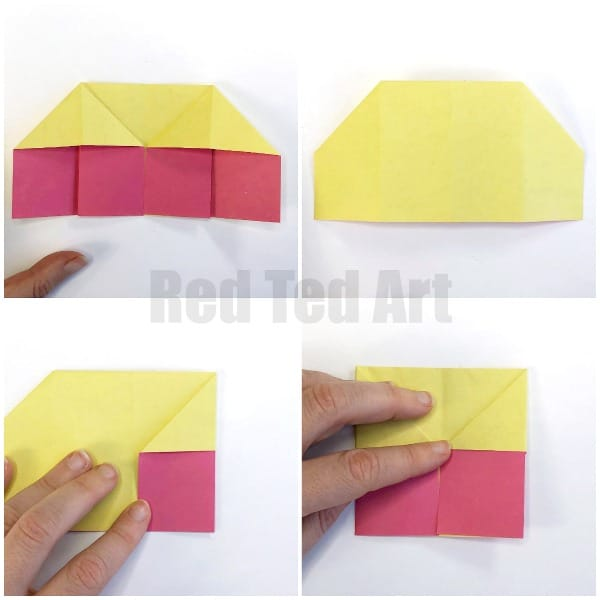 How to make a 3D origami paper cup: page 1 | 600x600