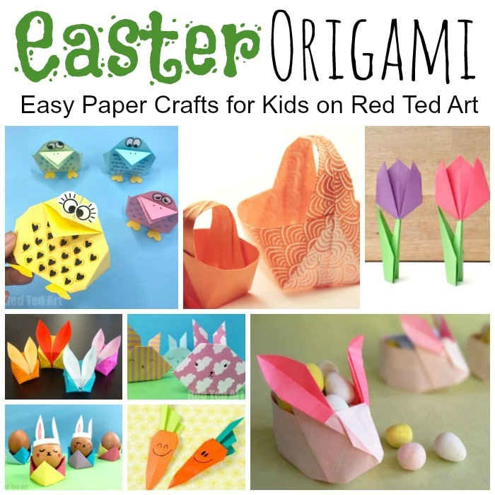 Easy Easter Origami For Kids Red Ted Art