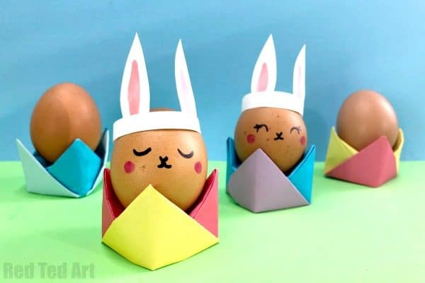 Easy Egg Cup Origami for Easter