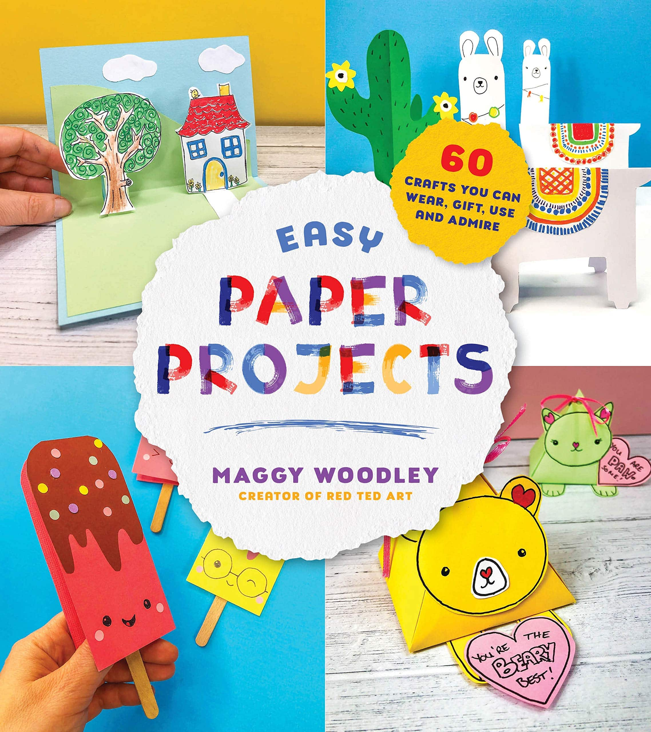Easy Paper Crafts For Kids And Adults Red Ted Art