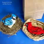 Air Drying Clay Birds for Kids