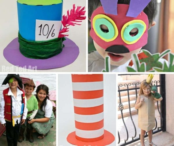 Need some quick and easy World Book Day costume ideas? Here are some great World Book Day Ideas for kids - some last minute, quick ideas & more involved. From a quick and clever hat, to easy masks and or the full costume idea! Get World Book Day SORTED #Worldbookday #books #costumes #dressup