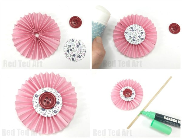 How To Make Paper Flowers Step By Step With Pictures Red Ted Art