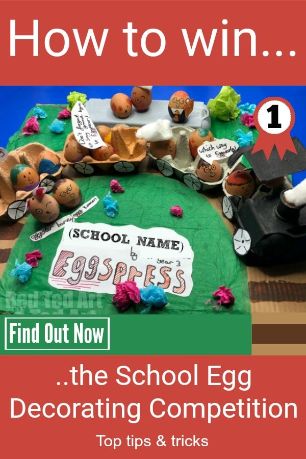 School Egg Decorating Competition looming? Learn how to win with our simple tips and tricks. We have had winning entries for the last 5 years! Or simply check out our School EGGspress and how we made it and have a go! Remember: have fun and experiment! CLICK TO FIND OUT MORE NOW