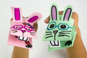 Learn how to make paper rabbits step by step today! A selection of the best DIY Paper Bunny Crafts available. Best Paper Easter Crafts in one place - whether crafting at home or in the classroom. We love Paper Bunnies!!! #Bunny #rabbit #paper #easter #teachers #decor
