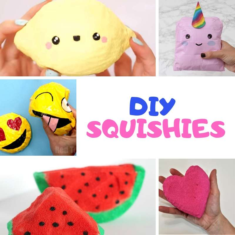 How to make Homemade Squishies that are Slow Rising. Learn how to make a Squshie with paper, with foam, without foam, above all Easy Squishie DIY!